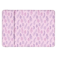 Whimsical Feather Pattern, Pink & Purple, Samsung Galaxy Tab 8 9  P7300 Flip Case by Zandiepants