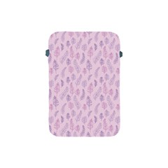 Whimsical Feather Pattern, Pink & Purple, Apple Ipad Mini Protective Soft Case by Zandiepants