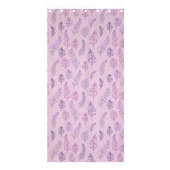 Whimsical Feather Pattern, Pink & Purple, Shower Curtain 36  X 72  (stall) by Zandiepants