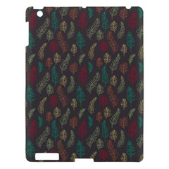 Whimsical Feather Pattern, Autumn Colors, Apple Ipad 3/4 Hardshell Case by Zandiepants