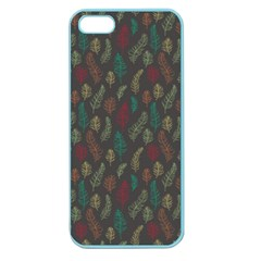 Whimsical Feather Pattern, Autumn Colors, Apple Seamless Iphone 5 Case (color) by Zandiepants