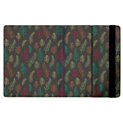 Whimsical Feather Pattern, Autumn Colors, Apple Ipad 2 Flip Case by Zandiepants