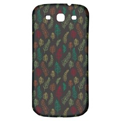 Whimsical Feather Pattern, Autumn Colors, Samsung Galaxy S3 S Iii Classic Hardshell Back Case by Zandiepants