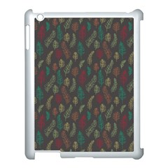 Whimsical Feather Pattern, Autumn Colors, Apple Ipad 3/4 Case (white)