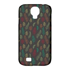Whimsical Feather Pattern, Autumn Colors, Samsung Galaxy S4 Classic Hardshell Case (pc+silicone) by Zandiepants
