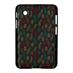 Whimsical Feather Pattern, Autumn Colors, Samsung Galaxy Tab 2 (7 ) P3100 Hardshell Case  by Zandiepants