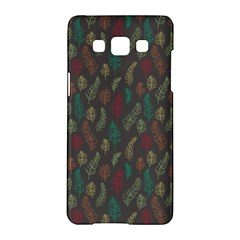 Whimsical Feather Pattern, Autumn Colors, Samsung Galaxy A5 Hardshell Case  by Zandiepants
