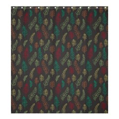 Whimsical Feather Pattern, Autumn Colors, Shower Curtain 66  X 72  (large) by Zandiepants