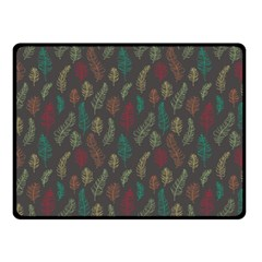 Whimsical Feather Pattern, Autumn Colors, Fleece Blanket (small) by Zandiepants