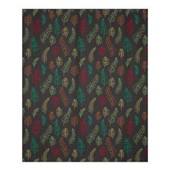 Whimsical Feather Pattern, Autumn Colors, Shower Curtain 60  X 72  (medium) by Zandiepants