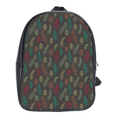 Whimsical Feather Pattern, Autumn Colors, School Bag (xl) by Zandiepants