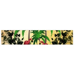 Tropical Design With Flamingo And Palm Tree Flano Scarf (small) by FantasyWorld7
