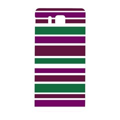 Purple Green Stripes Samsung Galaxy Alpha Hardshell Back Case by BrightVibesDesign