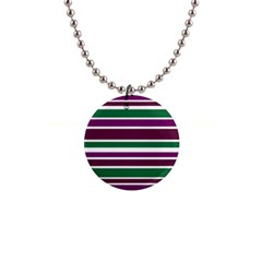 Purple Green Stripes Button Necklaces by BrightVibesDesign