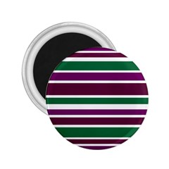 Purple Green Stripes 2 25  Magnets by BrightVibesDesign