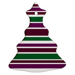 Purple Green Stripes Ornament (christmas Tree)
