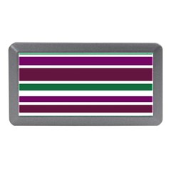Purple Green Stripes Memory Card Reader (mini) by BrightVibesDesign
