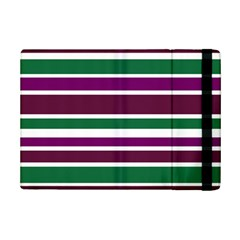 Purple Green Stripes Ipad Mini 2 Flip Cases by BrightVibesDesign