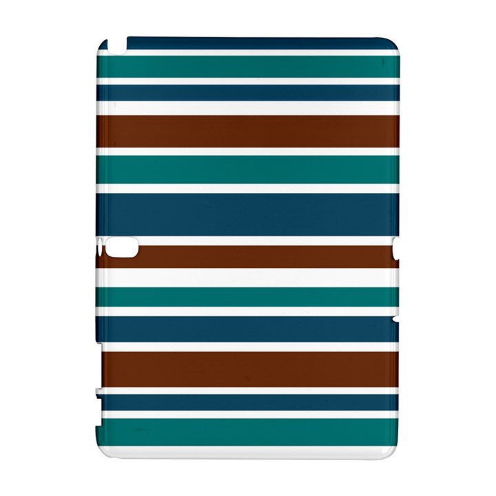 Teal Brown Stripes Samsung Galaxy Note 10.1 (P600) Hardshell Case