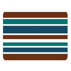 Teal Brown Stripes Double Sided Flano Blanket (large)  by BrightVibesDesign