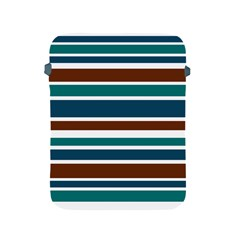 Teal Brown Stripes Apple Ipad 2/3/4 Protective Soft Cases by BrightVibesDesign
