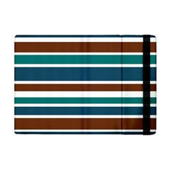 Teal Brown Stripes Ipad Mini 2 Flip Cases by BrightVibesDesign