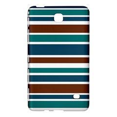Teal Brown Stripes Samsung Galaxy Tab 4 (7 ) Hardshell Case  by BrightVibesDesign
