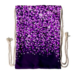 Purple Rain Drawstring Bag (large) by KirstenStar