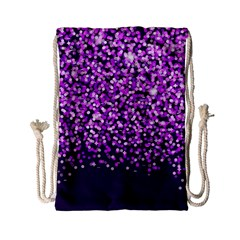 Purple Rain Drawstring Bag (small) by KirstenStar