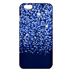 Blue Glitter Rain Iphone 6 Plus/6s Plus Tpu Case by KirstenStar