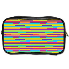 Colorful Stripes Background Toiletries Bags 2 Side by TastefulDesigns