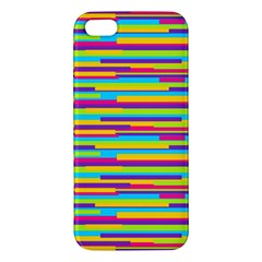 Colorful Stripes Background Apple Iphone 5 Premium Hardshell Case by TastefulDesigns