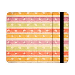 Watercolor Stripes Background With Stars Samsung Galaxy Tab Pro 8 4  Flip Case by TastefulDesigns
