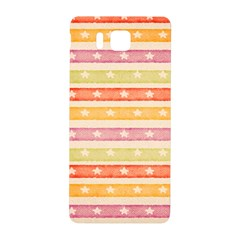 Watercolor Stripes Background With Stars Samsung Galaxy Alpha Hardshell Back Case by TastefulDesigns