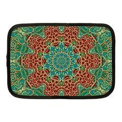 The Wooden Heart Mandala,giving Calm Netbook Case (medium)  by pepitasart
