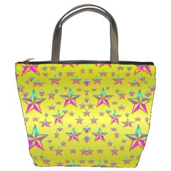 Flower Power Stars Bucket Bags by pepitasart