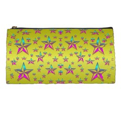 Flower Power Stars Pencil Cases by pepitasart