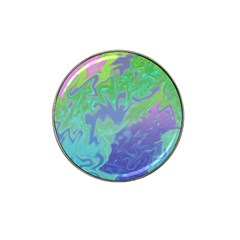 Green Blue Pink Color Splash Hat Clip Ball Marker by BrightVibesDesign