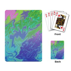 Green Blue Pink Color Splash Playing Card by BrightVibesDesign