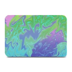 Green Blue Pink Color Splash Plate Mats by BrightVibesDesign