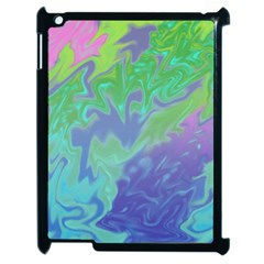 Green Blue Pink Color Splash Apple Ipad 2 Case (black) by BrightVibesDesign