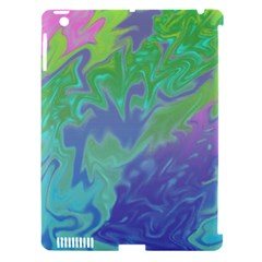 Green Blue Pink Color Splash Apple Ipad 3/4 Hardshell Case (compatible With Smart Cover) by BrightVibesDesign