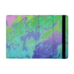 Green Blue Pink Color Splash Apple Ipad Mini Flip Case by BrightVibesDesign