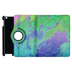 Green Blue Pink Color Splash Apple Ipad 3/4 Flip 360 Case by BrightVibesDesign