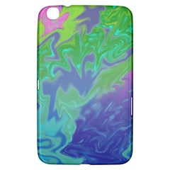 Green Blue Pink Color Splash Samsung Galaxy Tab 3 (8 ) T3100 Hardshell Case  by BrightVibesDesign