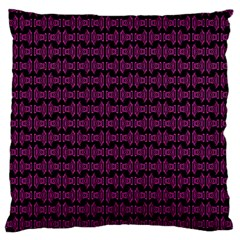 Pink Black Retro Tiki Pattern Standard Flano Cushion Case (one Side) by BrightVibesDesign