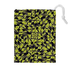 Modern Abstract Interlace Drawstring Pouches (extra Large) by dflcprints