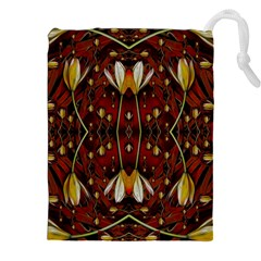 Fantasy Flowers And Leather In A World Of Harmony Drawstring Pouches (xxl) by pepitasart
