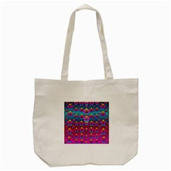 Freedom Peace Flowers Raining In Rainbows Tote Bag (cream) by pepitasart