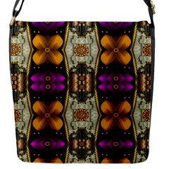 Contemplative Floral And Pearls  Flap Messenger Bag (s) by pepitasart
